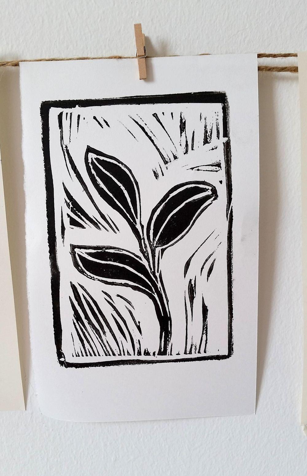 Linoleum Prints - image 4 - student project