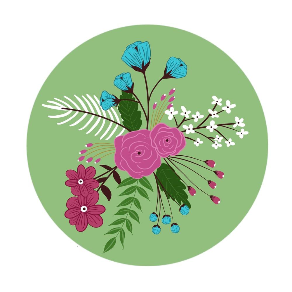 Modern Floral Illustration - image 3 - student project