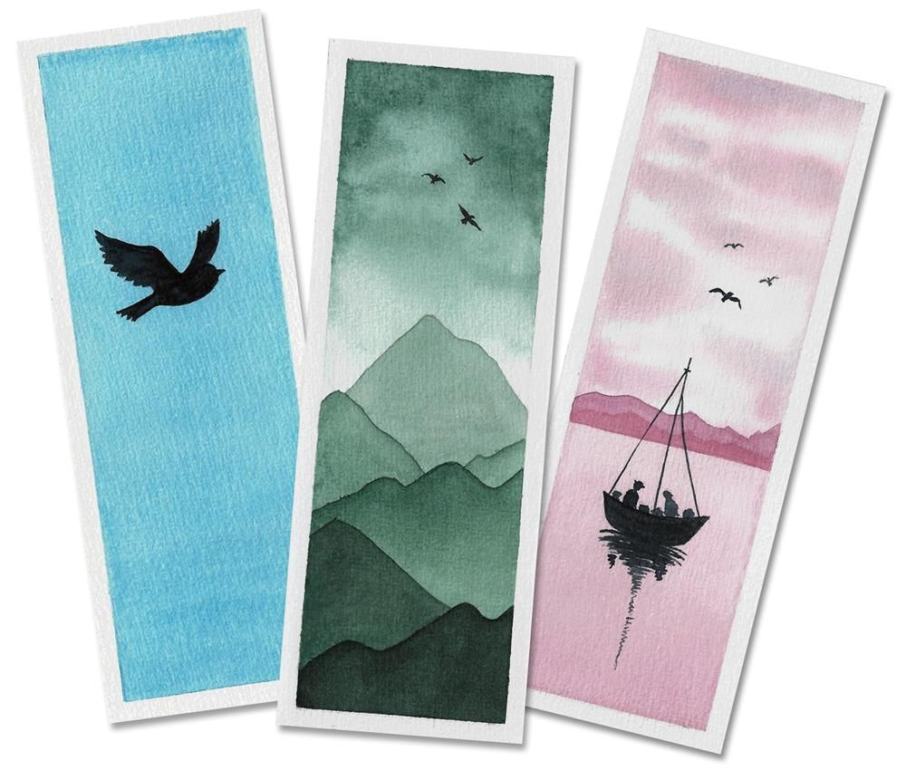 Watercolor Bookmarks & Polaroids - image 1 - student project