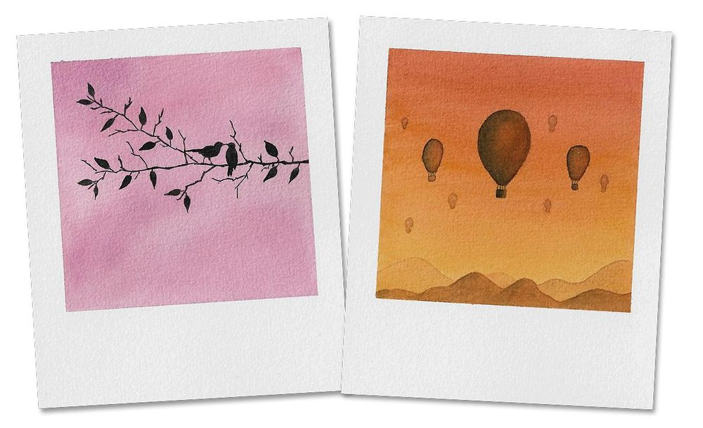 Watercolor Bookmarks & Polaroids - image 3 - student project