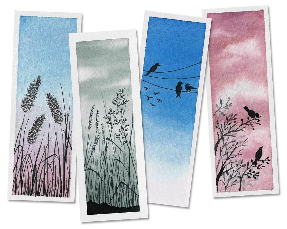 Watercolor Bookmarks & Polaroids - image 2 - student project