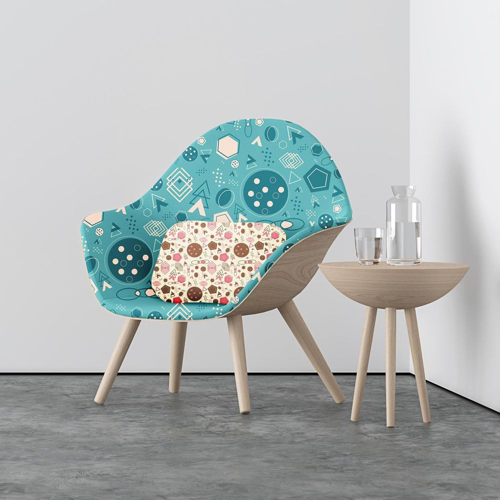 Realistic Mockup on Chair and Pillow - image 1 - student project
