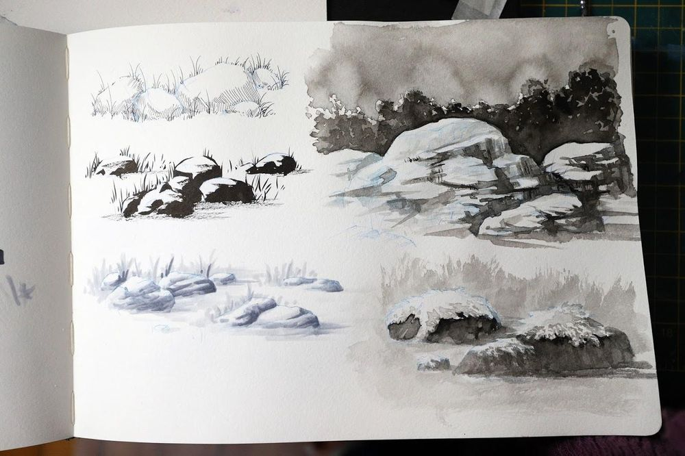 Rock Sketches - image 2 - student project