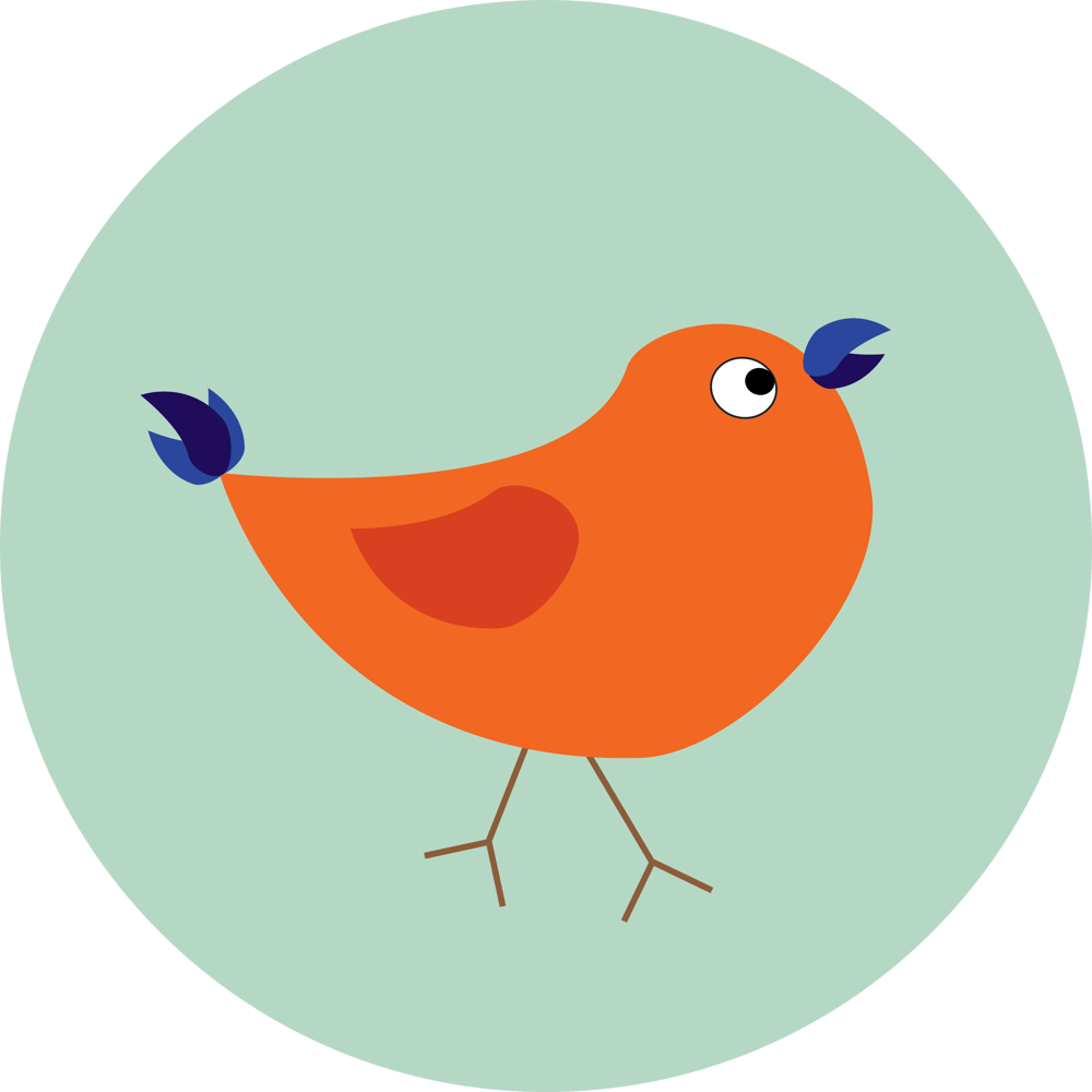 Illustrator flat icons: smartphone and bird - image 2 - student project