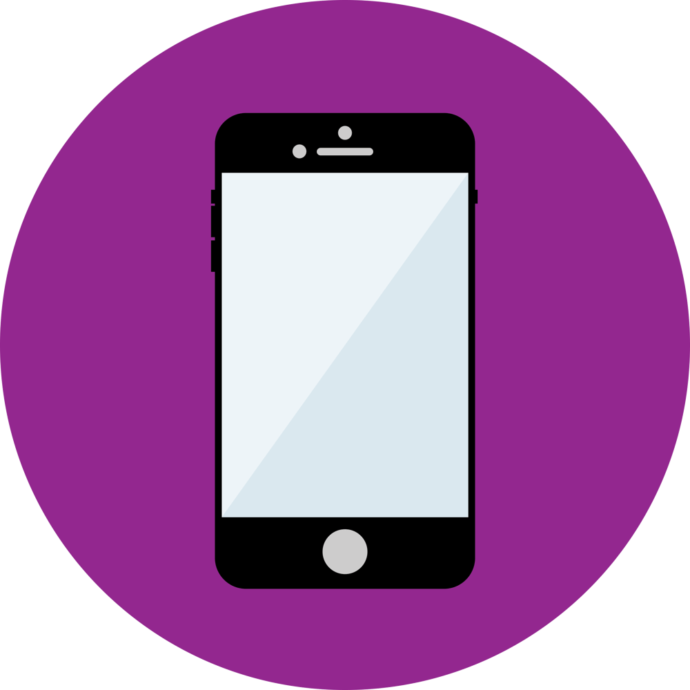 Illustrator flat icons: smartphone and bird - image 1 - student project