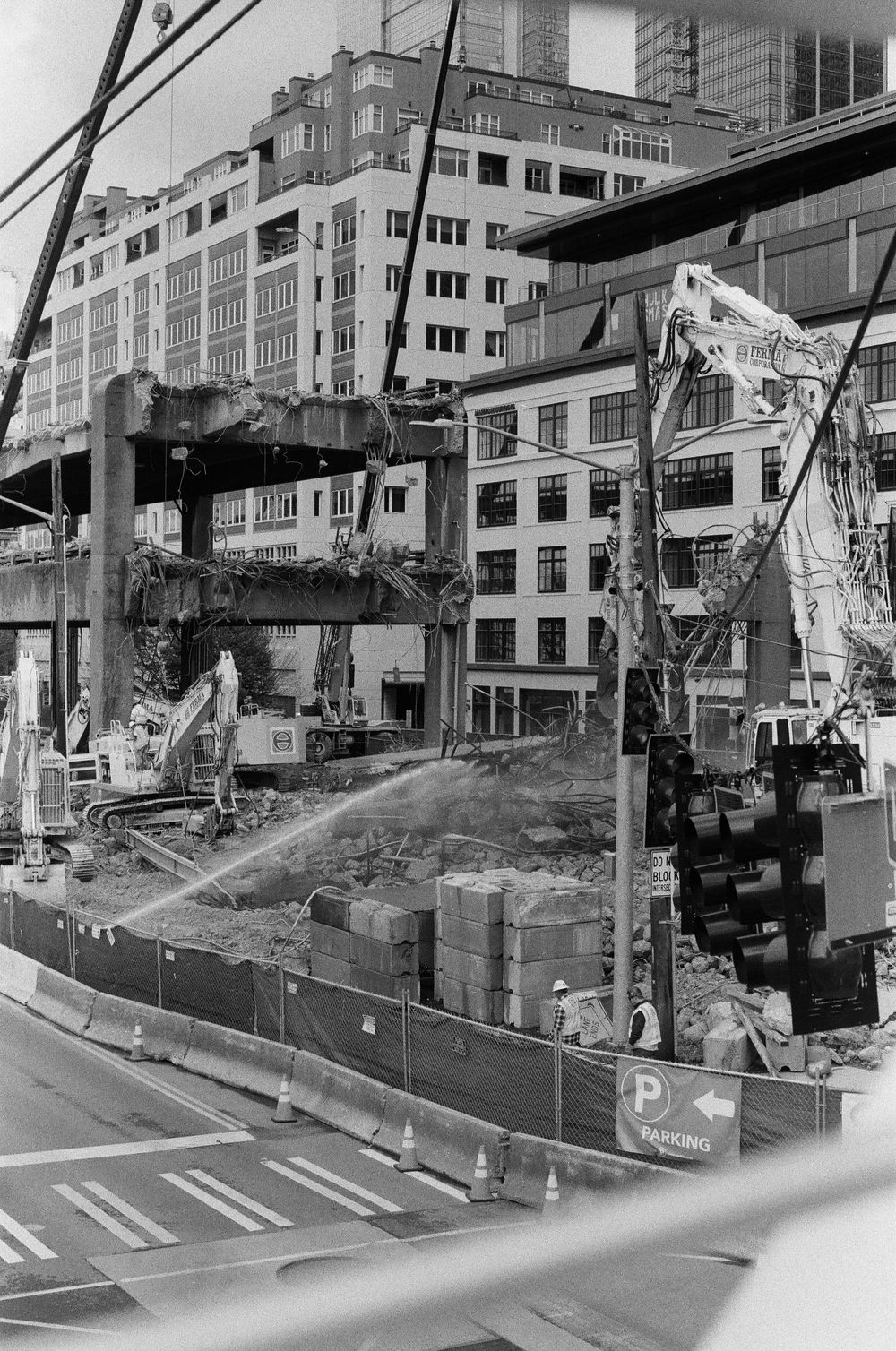 Seattle Viaduct Demolition (50mm ilford 400) - image 1 - student project
