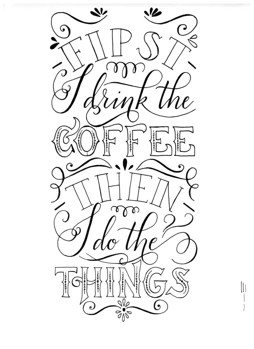Vintage coffee quote - image 1 - student project