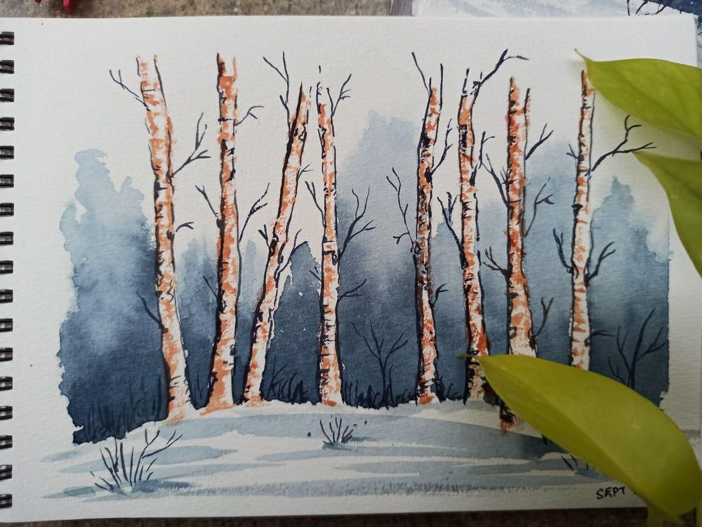 Snowy landscape - image 2 - student project