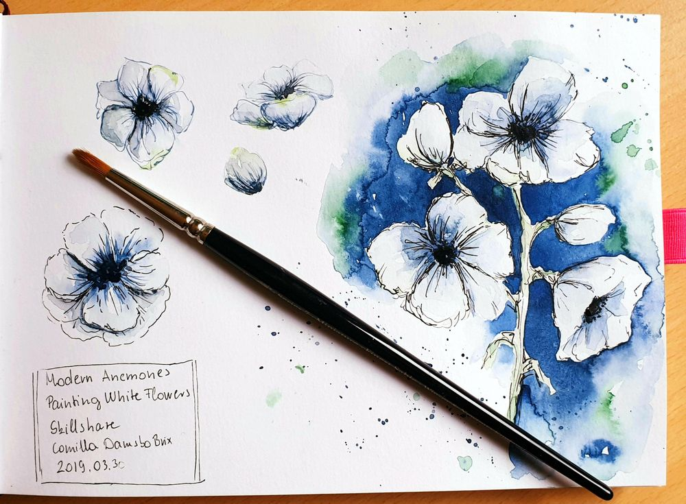 Modern Anemones with Camilla - image 1 - student project