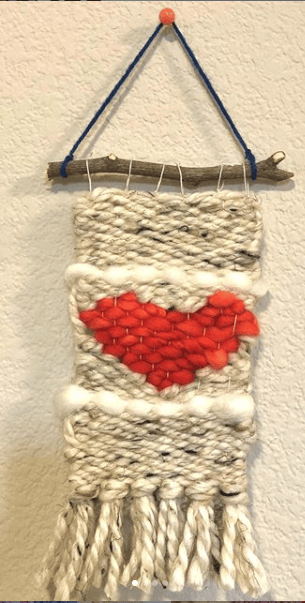 Weaving a heart shape - image 1 - student project