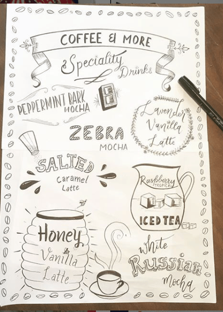 Lettering for Coffee Shops - image 1 - student project