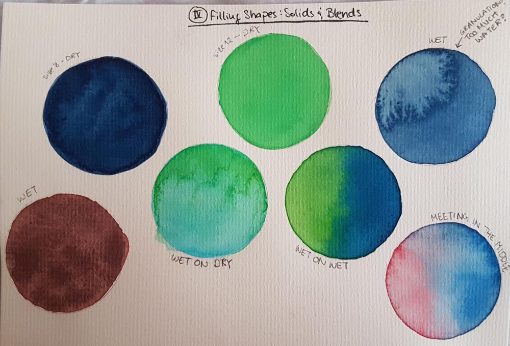 Watercolor Boot Camp Drills - image 5 - student project
