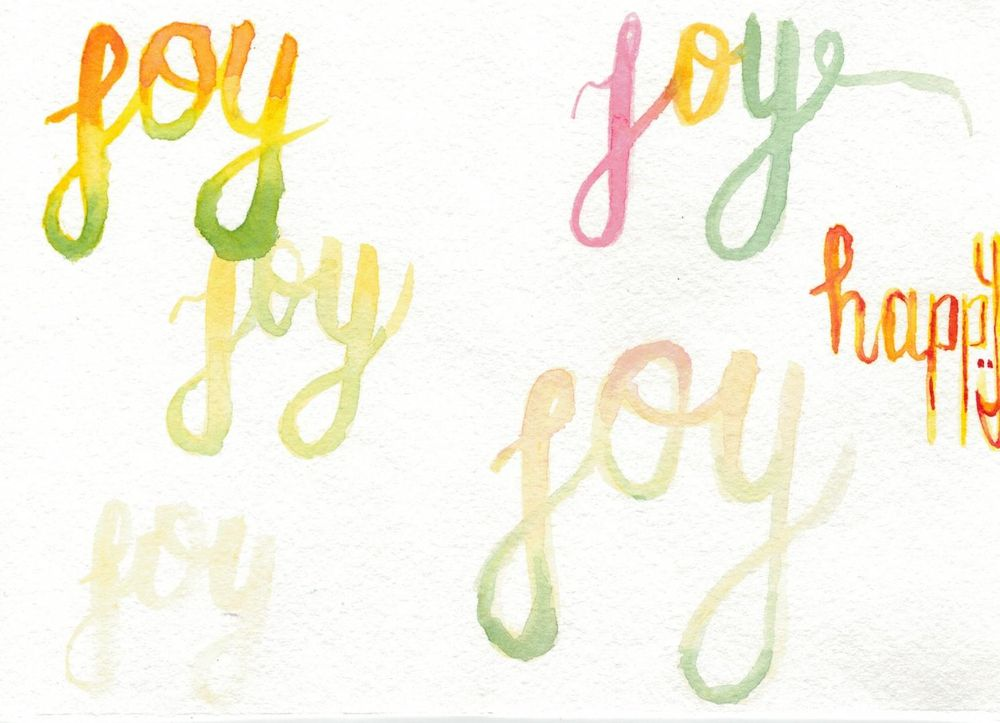Watercolor Joy  - image 3 - student project