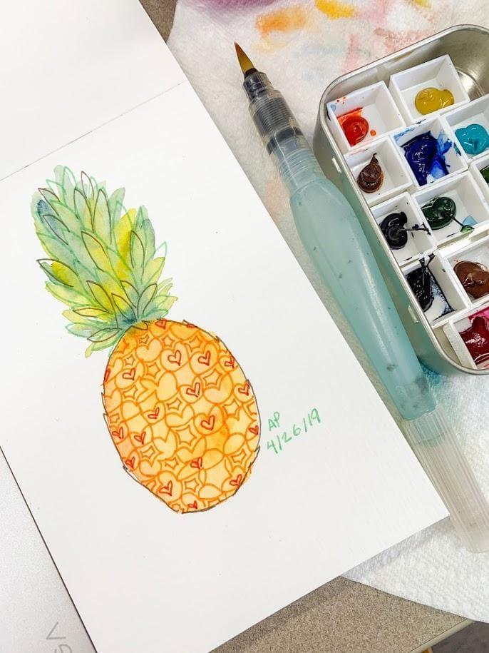 Pineapple Studies 4 Ways - image 3 - student project
