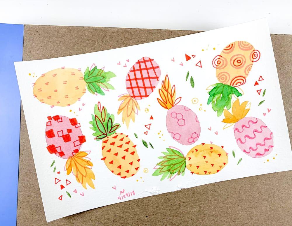 Pineapple Studies 4 Ways - image 4 - student project