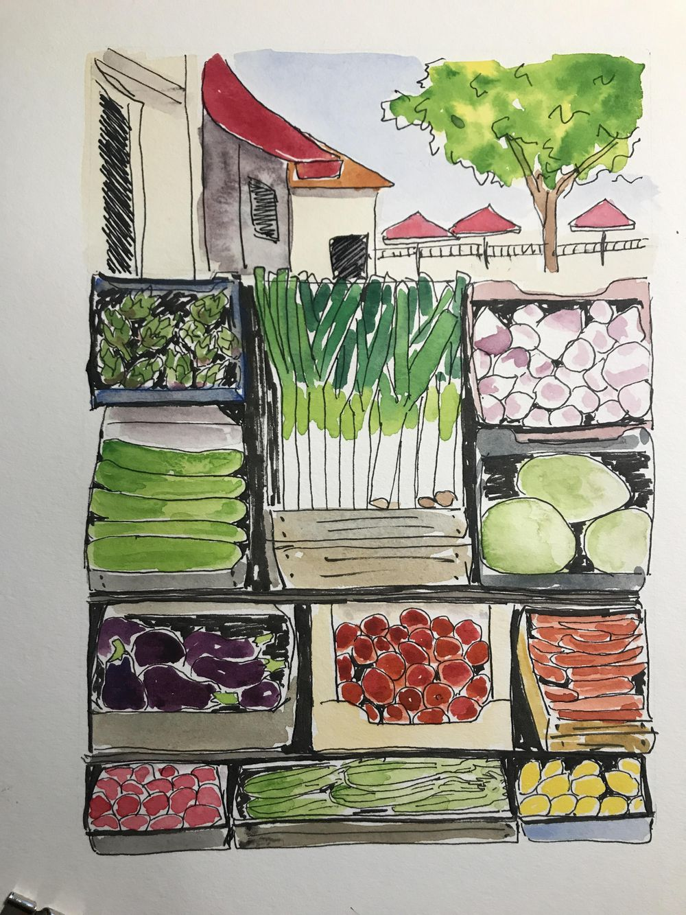 produce stand - image 1 - student project