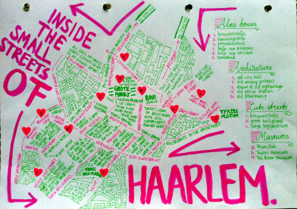 Haarlem Walks map - image 1 - student project