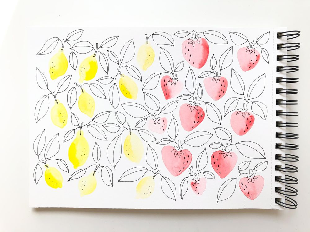Lemons and Strawberries Pattern - image 1 - student project