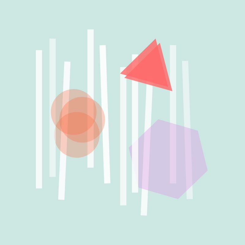 Geometric Shape Collage - image 1 - student project