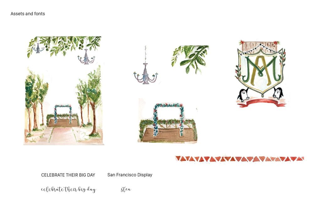 Watercolour Wedding Suite! :) - image 3 - student project