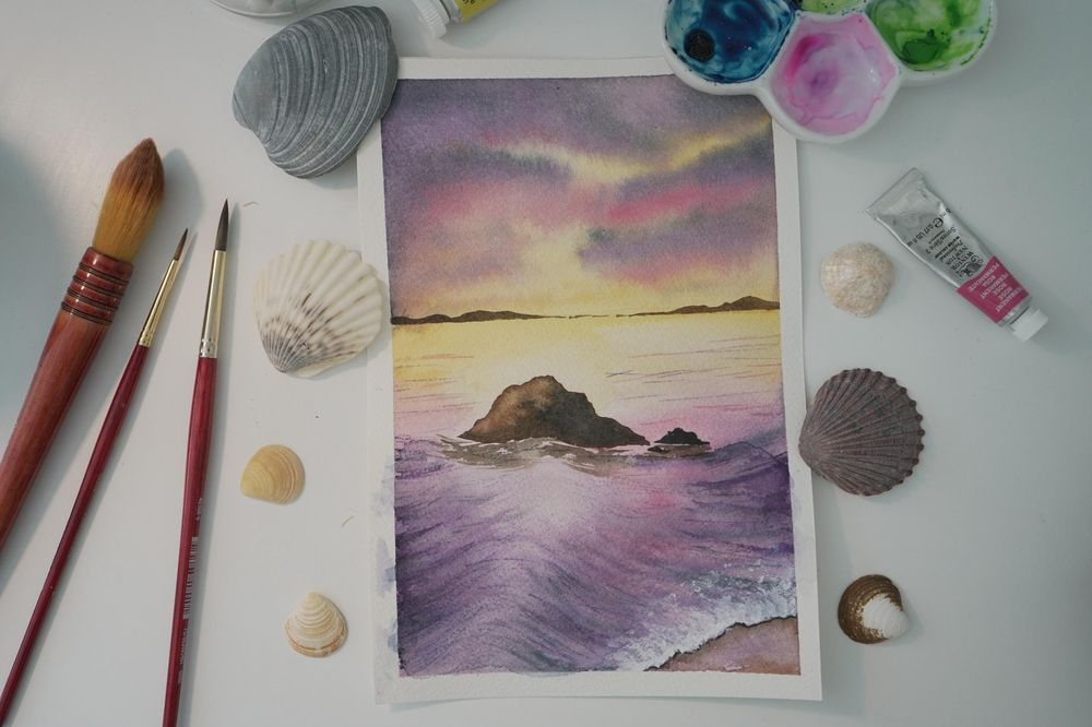 Purple sea - image 1 - student project
