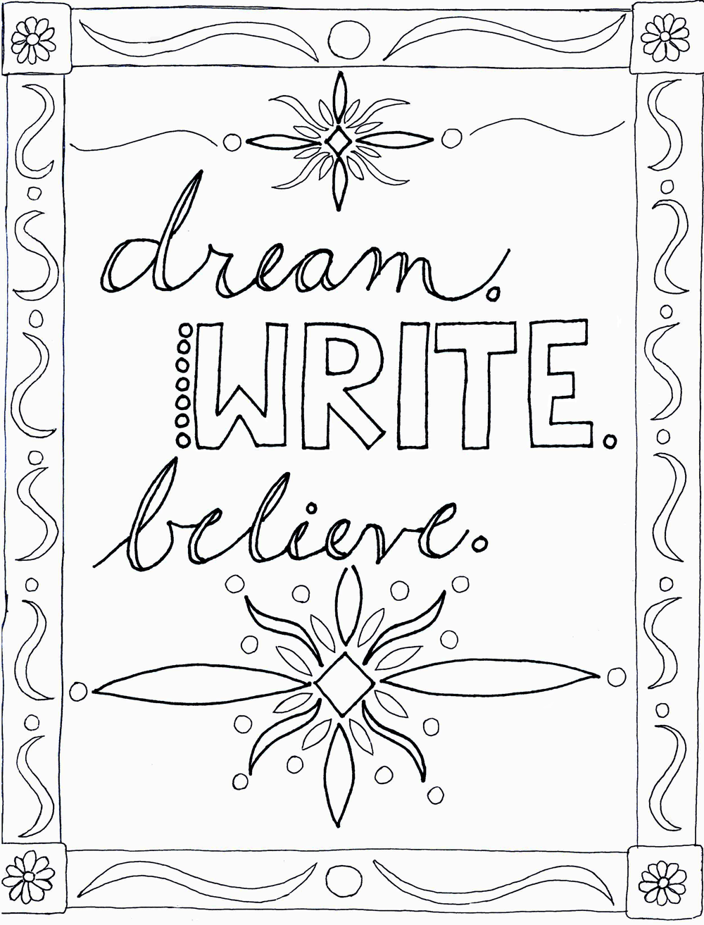 Dream, Write, Believe - image 1 - student project