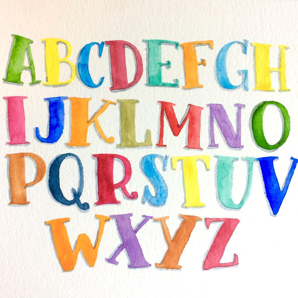 colorful letters! - image 1 - student project