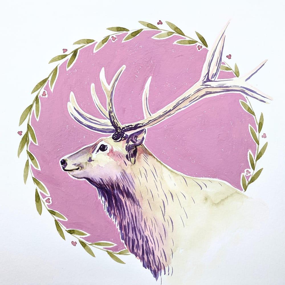Festive Elk - image 1 - student project