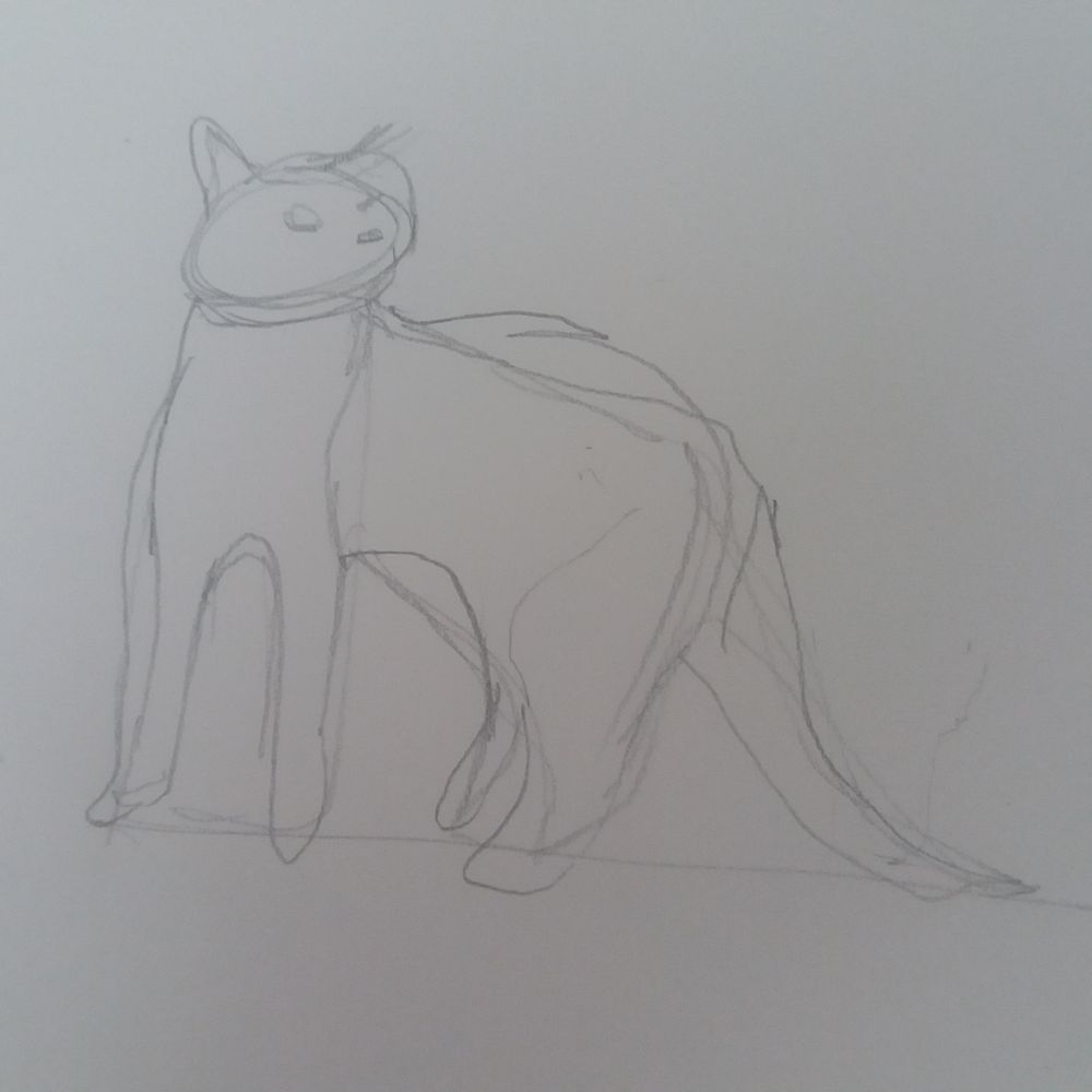 Animal Study - Drawing cats #skillshareclass - image 4 - student project