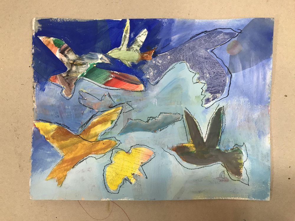 Abstract animal painting - image 4 - student project