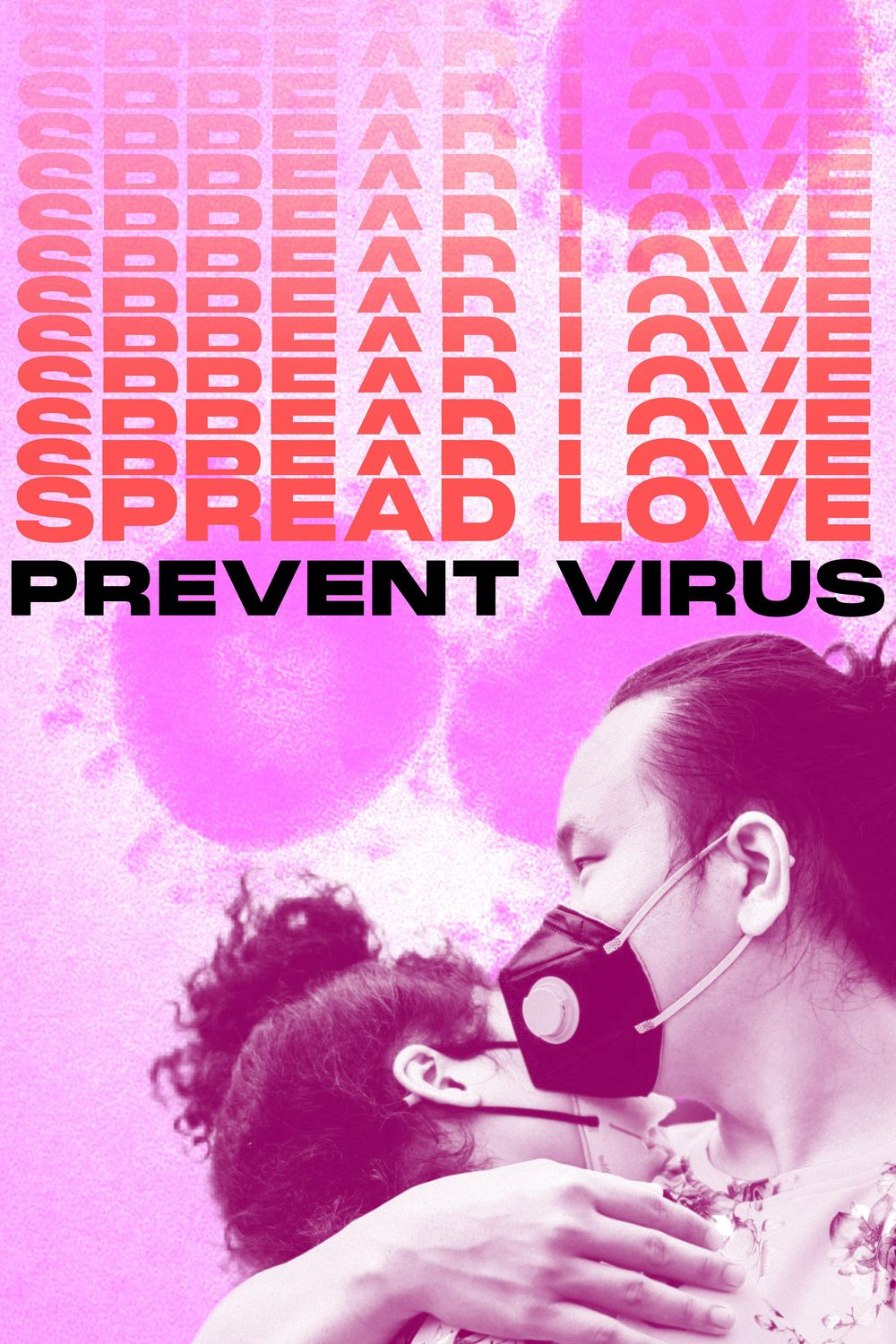 Spread Love Prevent Virus Posters - image 1 - student project