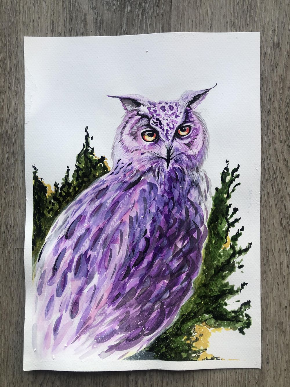 Owl & Lettering Practice - image 1 - student project