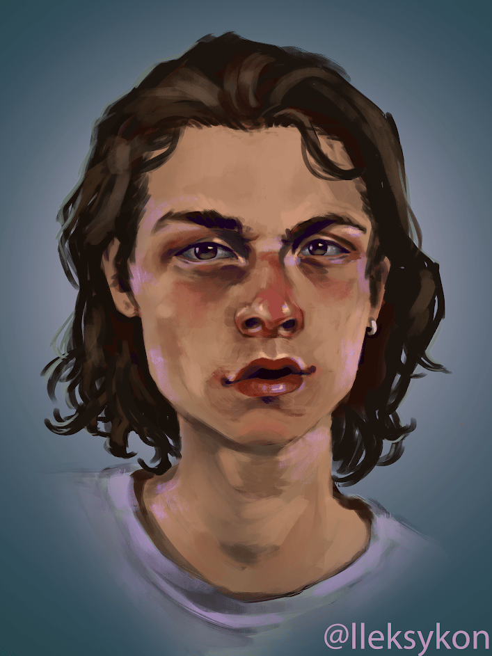 my first painting in photoshop - i used a reference - image 1 - student project