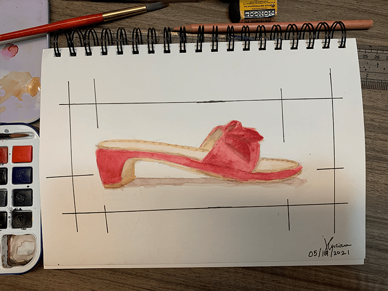 Basic Watercolor Painting: One of the Shoes I Want to Own Someday - image 1 - student project