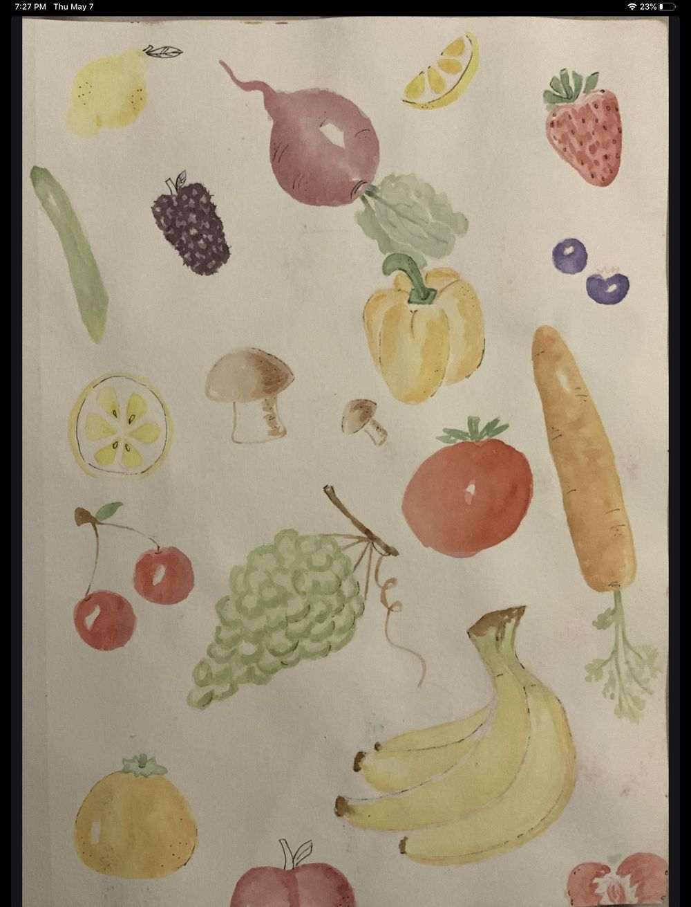 Fruits and veggies - image 1 - student project