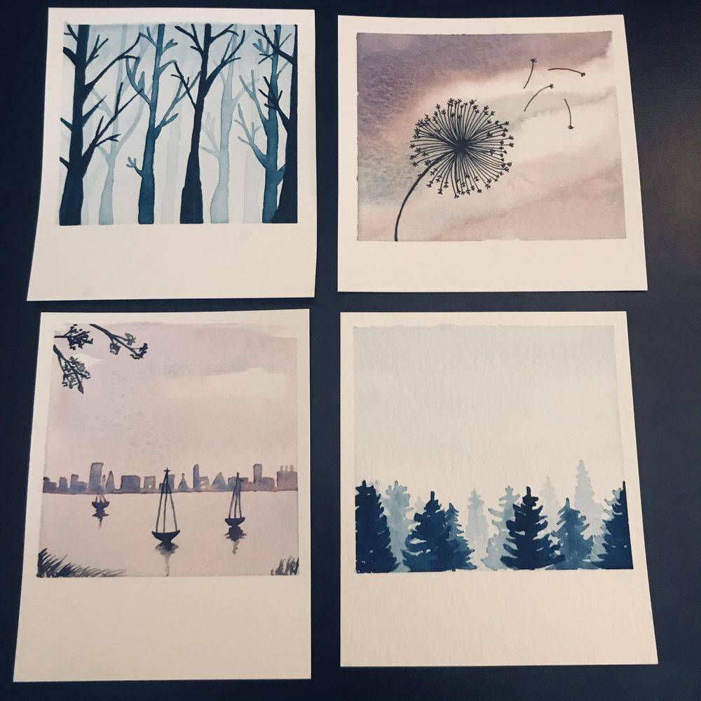 Simple Skies and Silhouettes - image 1 - student project