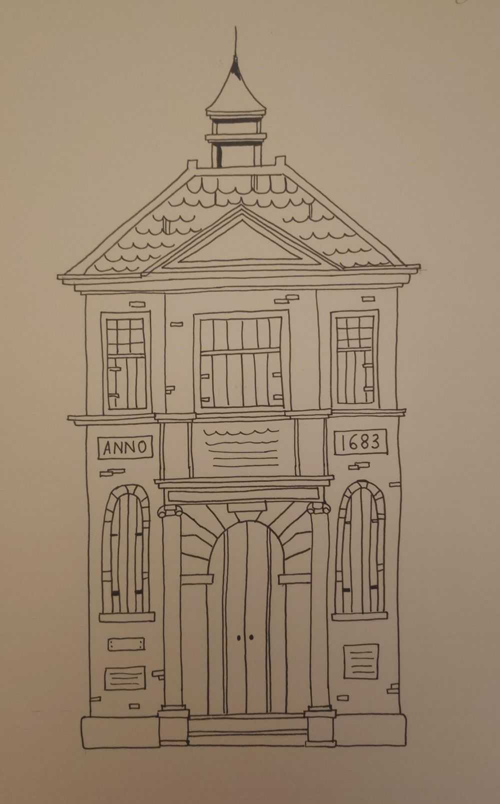urban sketch - image 2 - student project