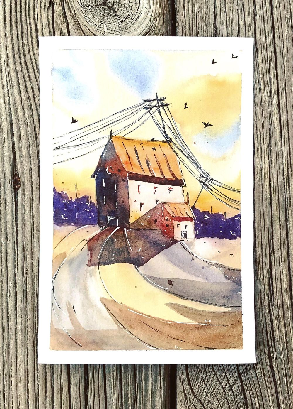 Watercolor cityscape - image 1 - student project