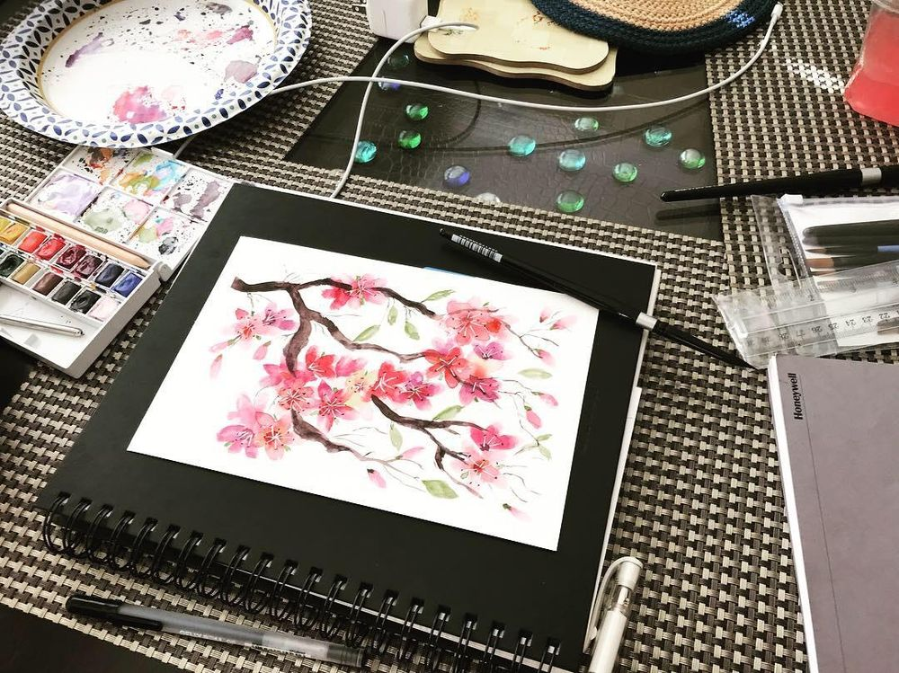 Cherry blossoms - image 2 - student project
