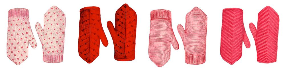Painting Mittens in Pencil Crayon and Gouache - image 3 - student project