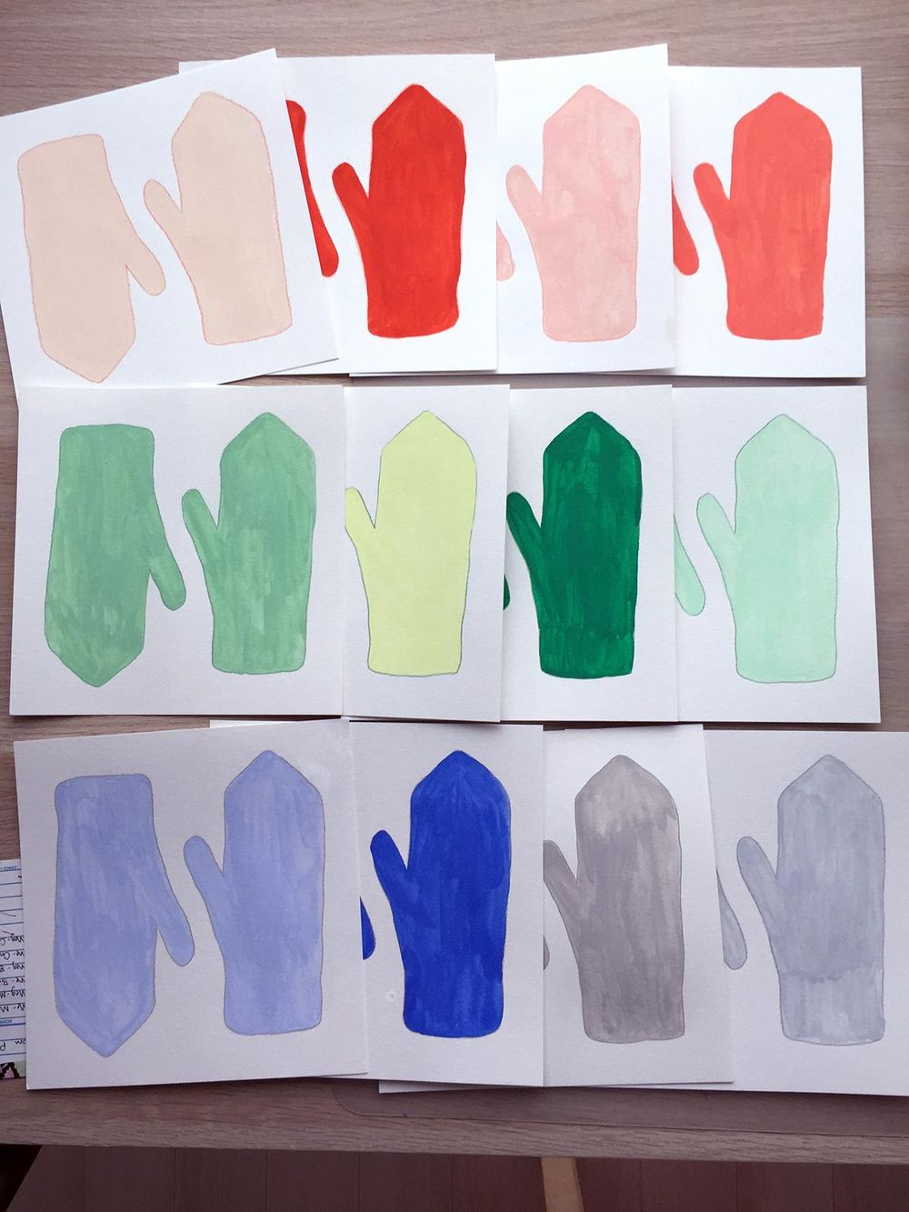 Painting Mittens in Pencil Crayon and Gouache - image 2 - student project