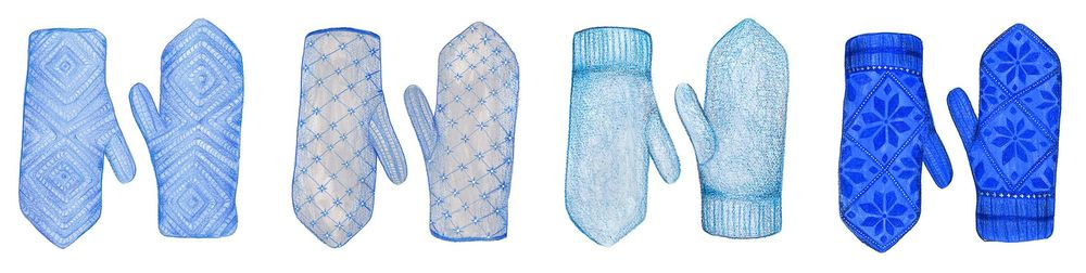 Painting Mittens in Pencil Crayon and Gouache - image 5 - student project
