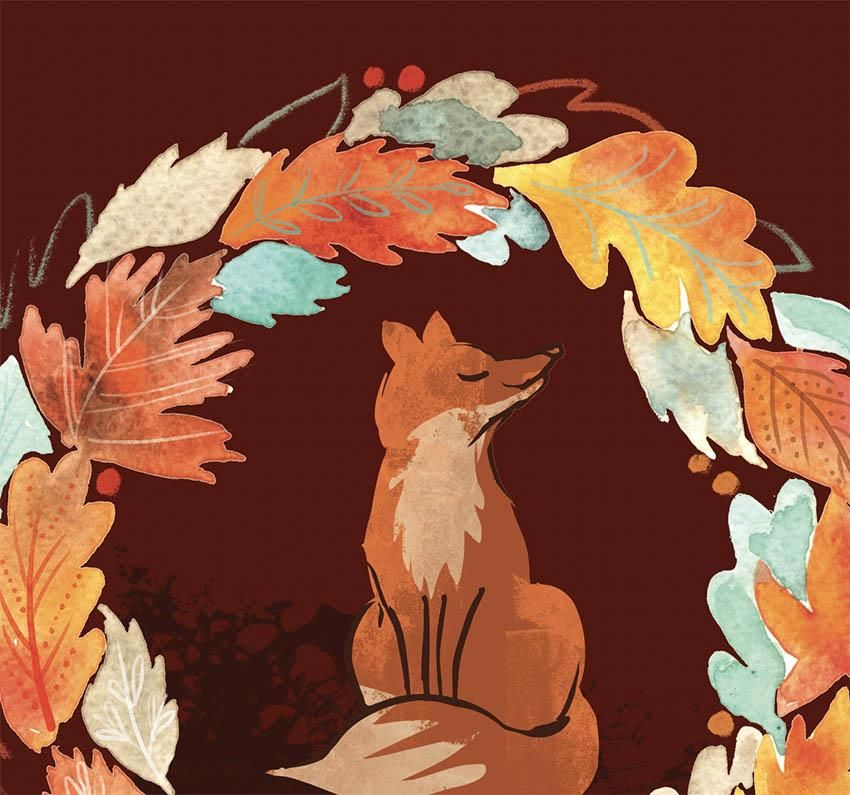Autumn Wreath (and fox) - image 3 - student project