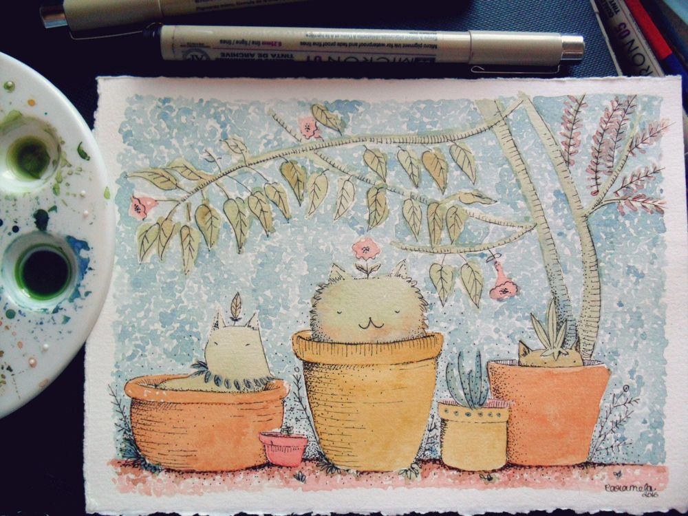 watercolor & ink - image 3 - student project