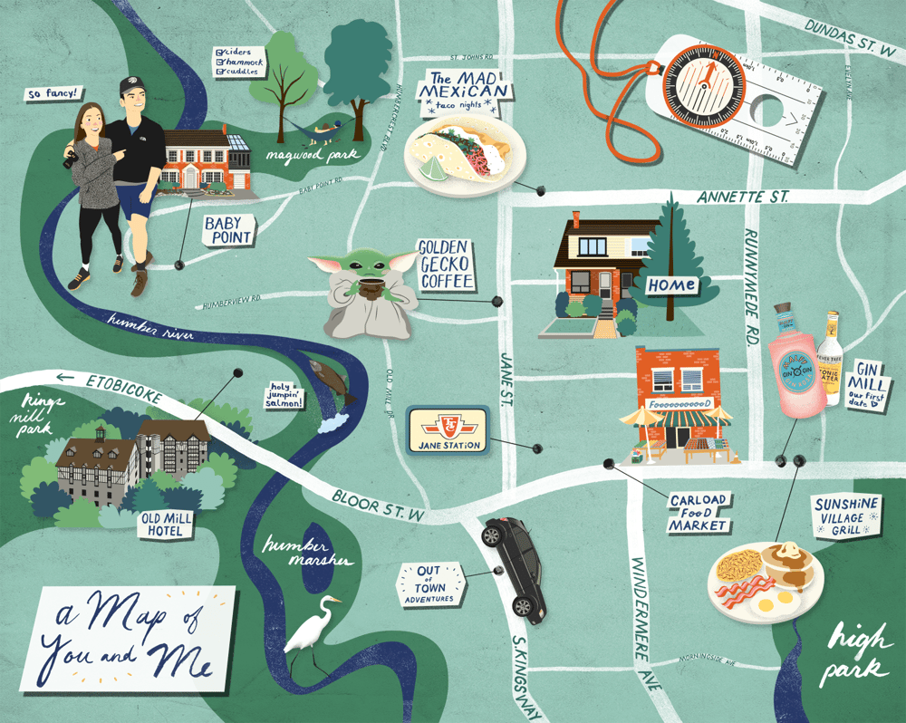 """""""A Map of You and Me"""" in Bloor West Village, Toronto - image 1 - student project"""