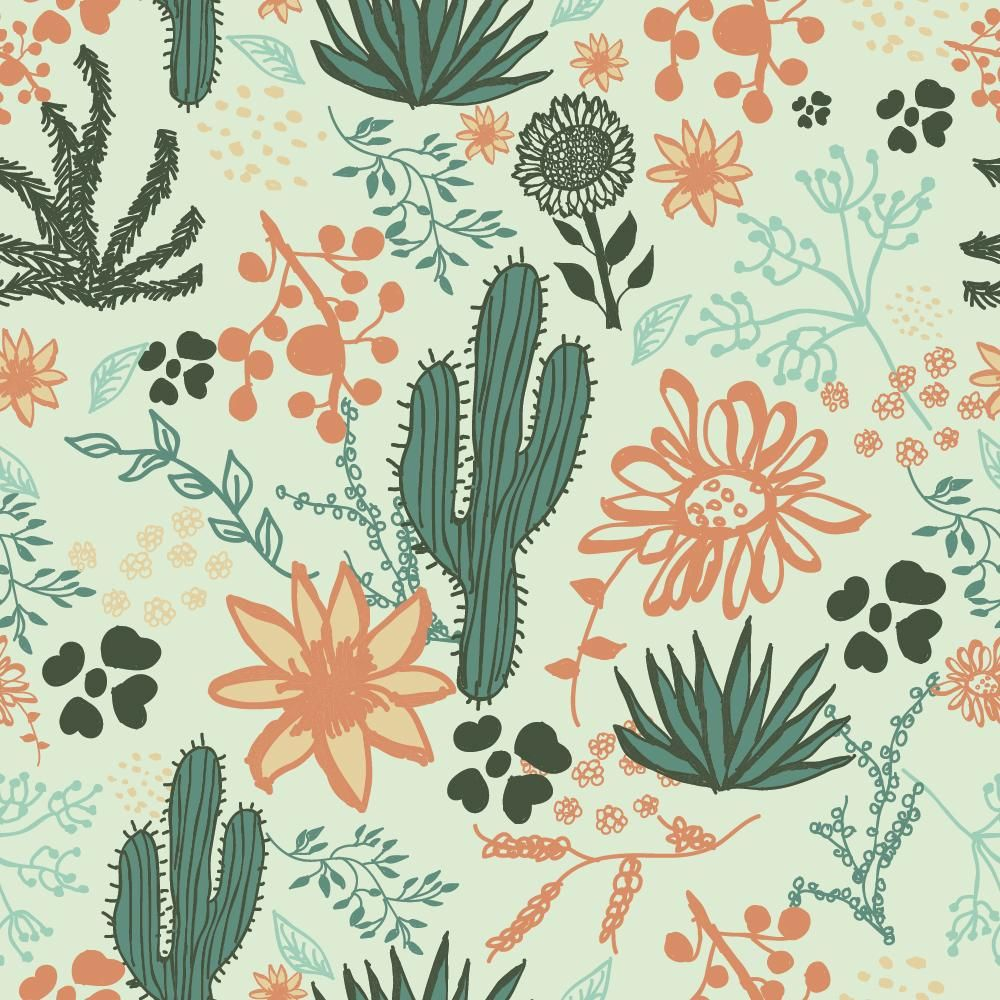 Foliage Repeat Pattern - image 1 - student project