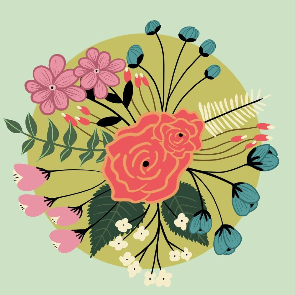 Modern Florals - image 2 - student project