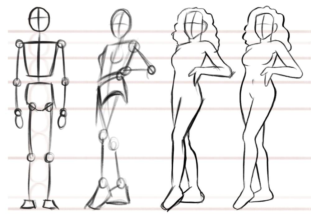 Female body anatomy. - image 1 - student project
