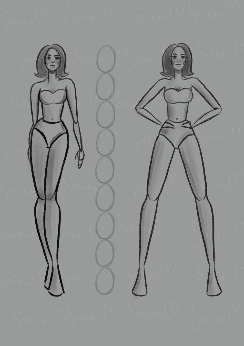 Figure drawing - Fashion illustration. - image 1 - student project