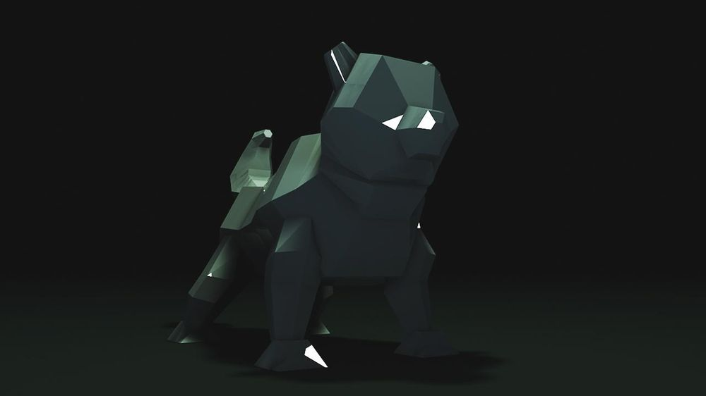 Low poly dog - image 2 - student project